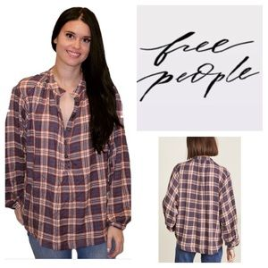 Free People Northern Bound Buttondown Top.  NWT.